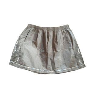 Gap Factory 100% Cotton Beaded Brown Mini Skirt